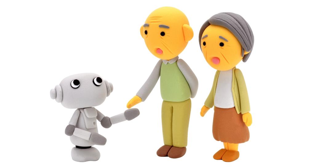 ロボットと介護のイメージ