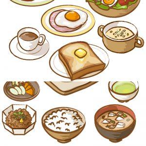 洋食と和食のイメージ