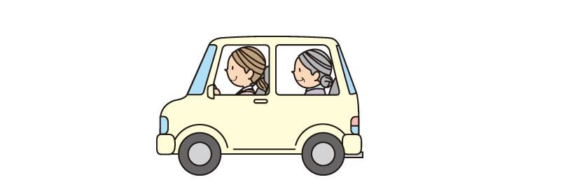 GPS検索をするこで徘徊のお母さんを車でお出迎え