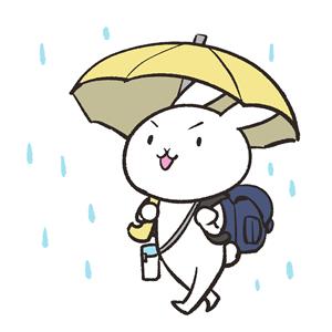 長雨で外を歩くイメージ